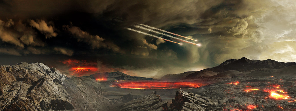 Could impact from asteroids eventually create life?