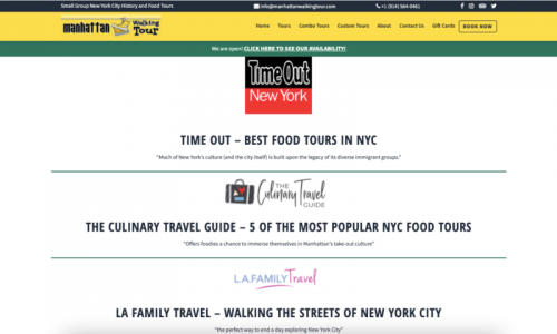 Extra Pages To Consider For Your Tour Company Website