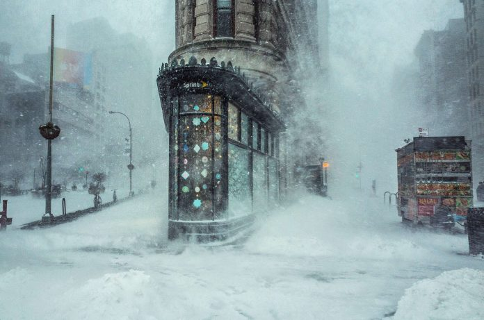 Michele Palazzo's Famous Flatiron Building-Snowstorm Shot is Now Available as NFT (Non-Fungible Token)