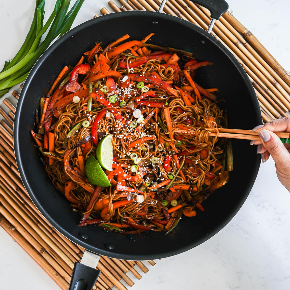 Spicy Veg Noodles Recipe In 20 Minutes | Desi~licious RD