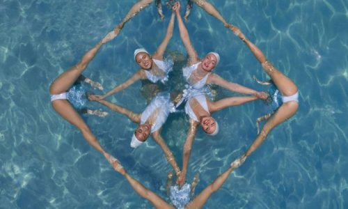 Synchronized Swimming Aerial Photography by Brad Walls