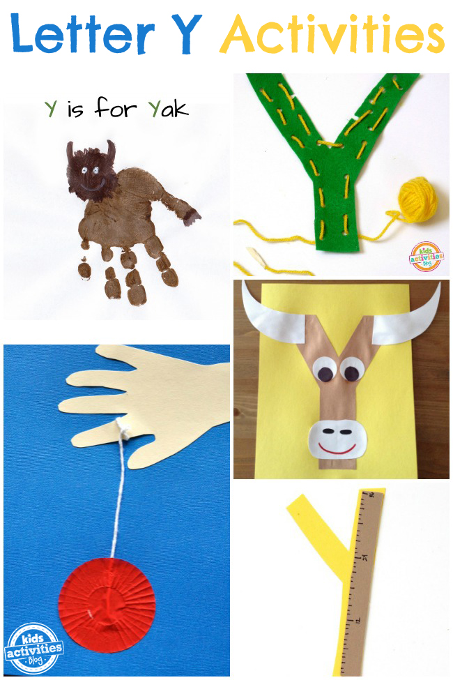 13 Letter Y Crafts & Activities