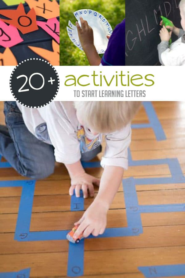 20+ Simple Activities for Kids to Start Learning Letters