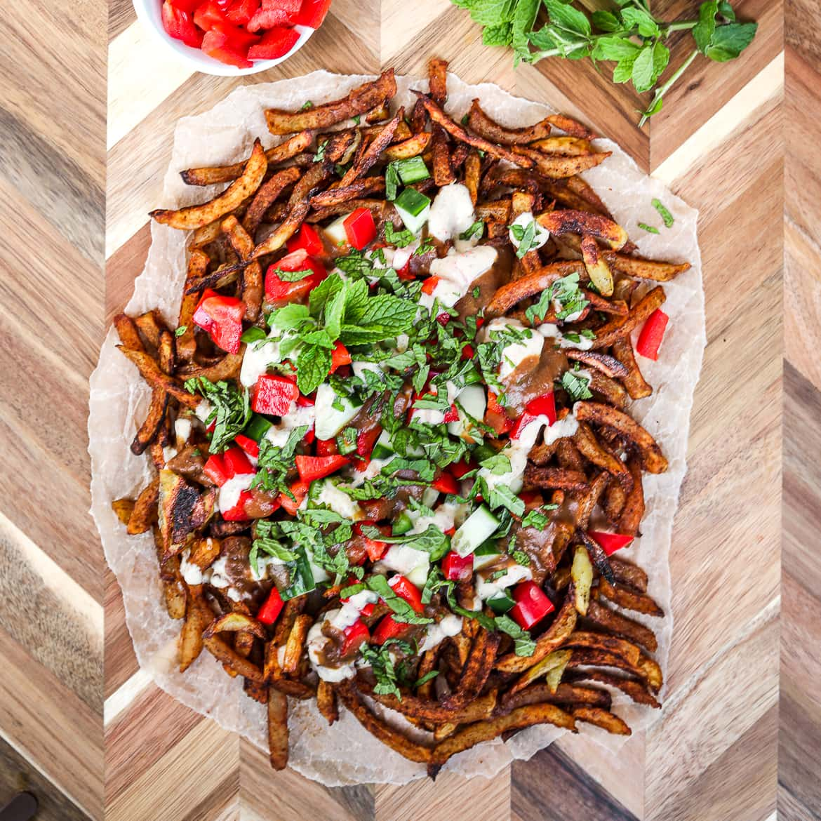 Bhangra Masala Oven Baked French Fries | Easy and Healthy Desi Recipes