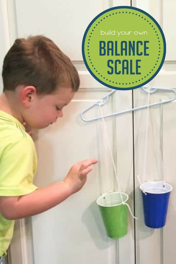 Build a Balance Scale for Preschoolers to Explore Weights