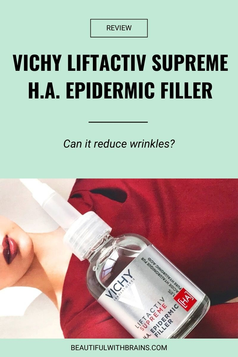 Can Vichy LiftActiv Supreme H.A. Epidermic Filler Really Reduce Wrinkles?