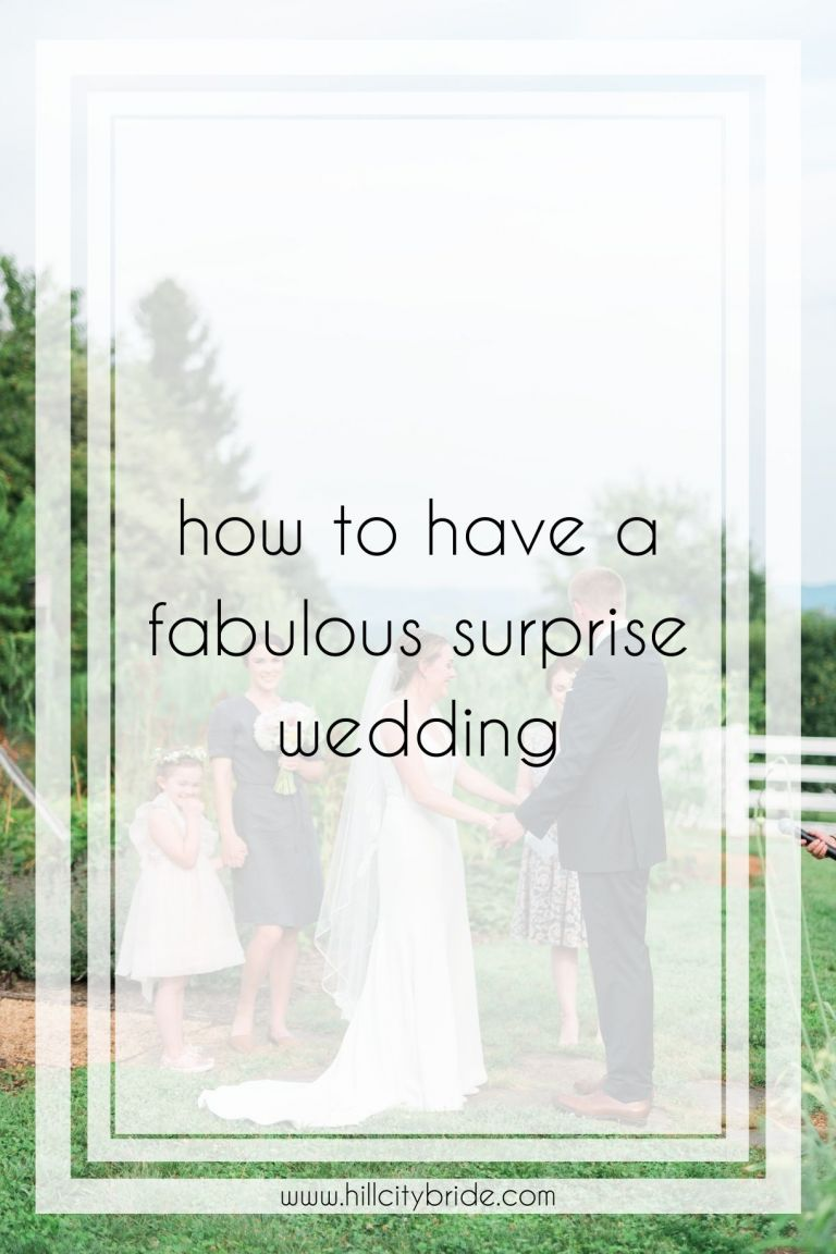 Dreaming of a Surprise Wedding? This One Is Filled With Ideas!