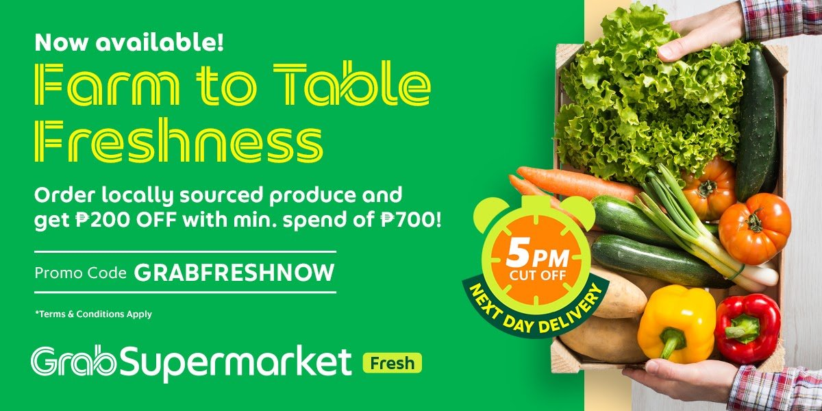GrabSupermarket now in PH, for farm to table fresh produce