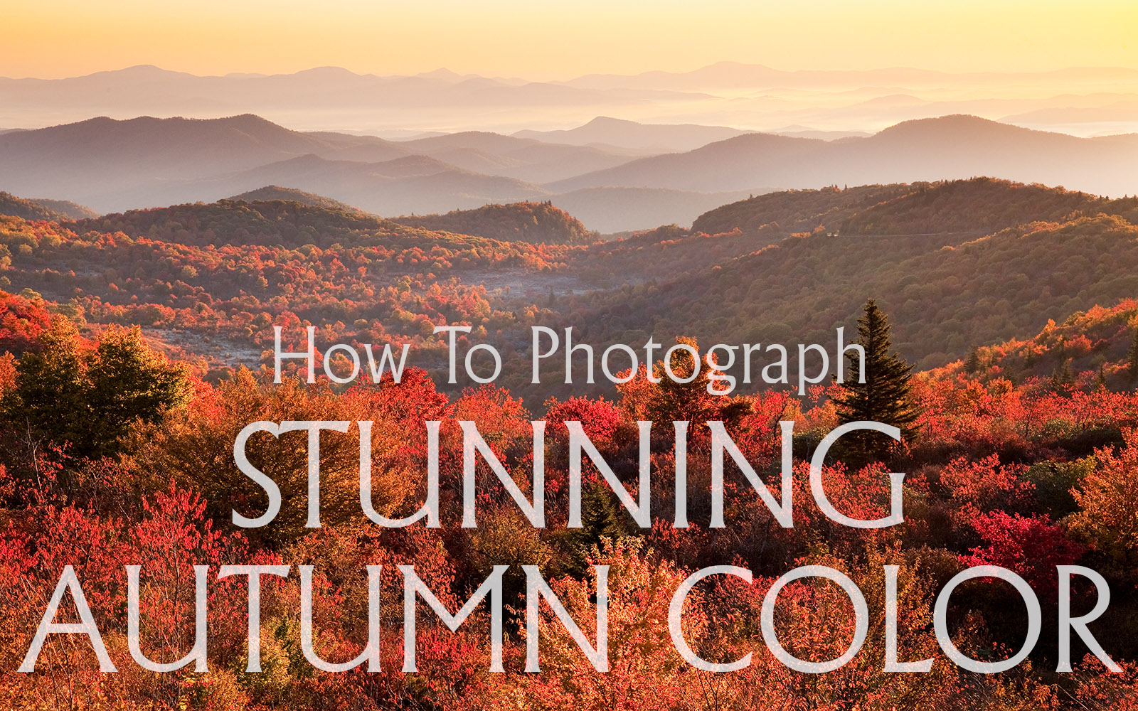How To Photograph Stunning Autumn Color