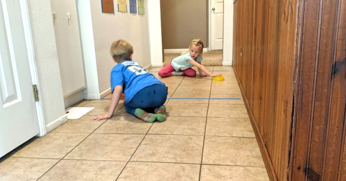 Indoor Hockey Activity Easy for Kids to Play at Home