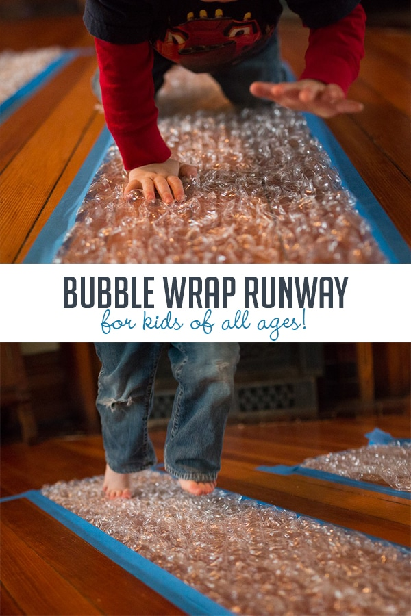Make a Bubble Wrap Runway for Kids of All Ages