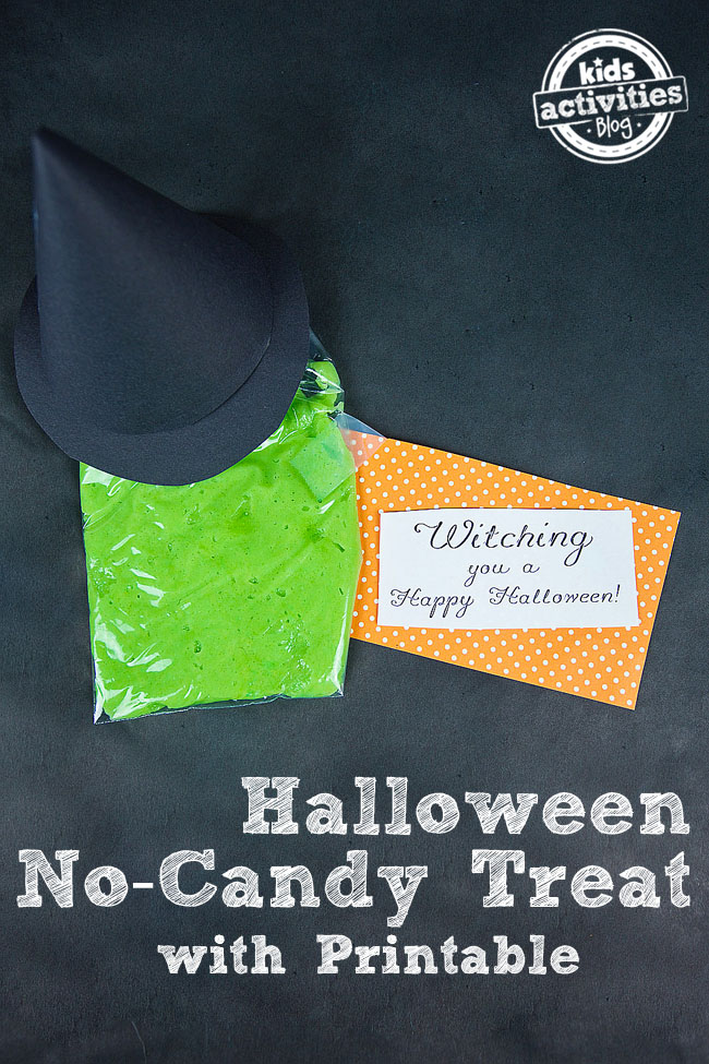 Make Melted Witch Treat Bags for Halloween