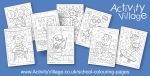 New Back to School Bookworm Colouring Pages