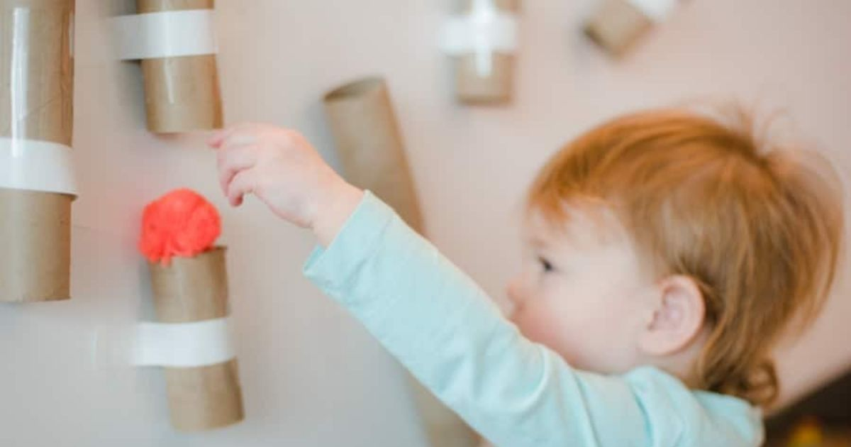 Pom Pom Drop Busy Activity for Toddlers