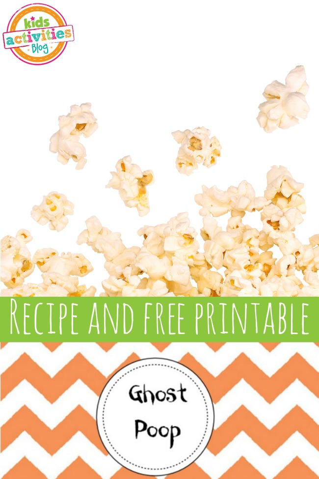 Silly Ghost Poop Recipe & Free Printable for Halloween
