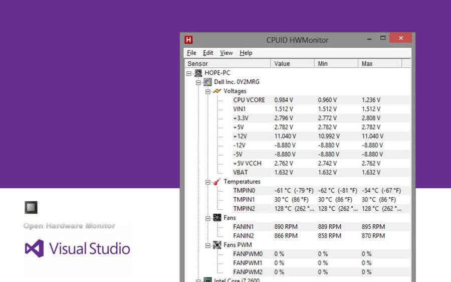 Using Open Hardware Monitor Source Code DLL with C#