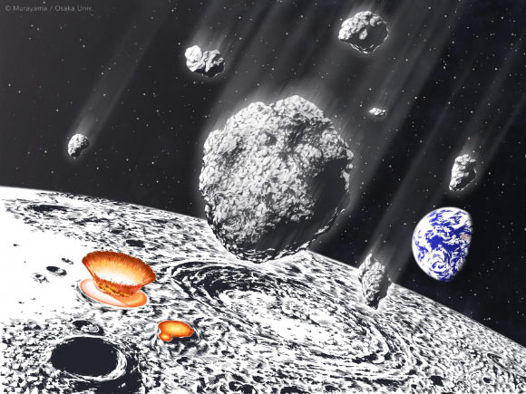 Young Moon May Have Been Subjected to Heavier Bombardment than Previously Thought