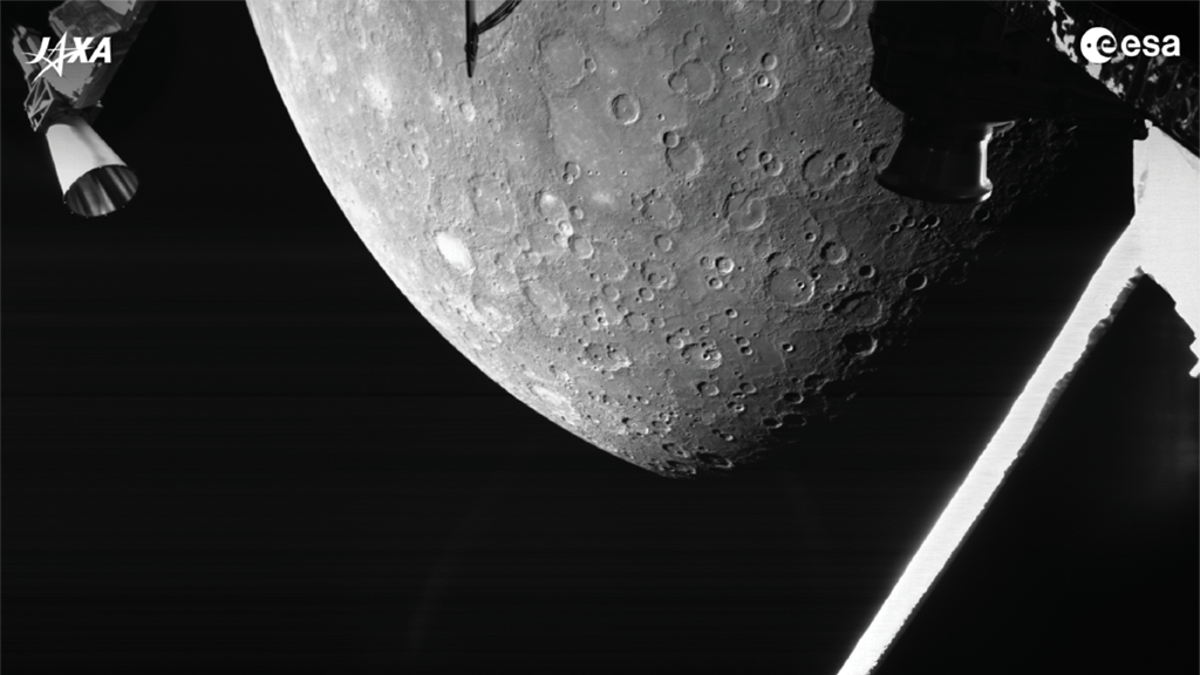 Joint Europe-Japan Space Mission Captures Its First Flyby Photos of Mercury